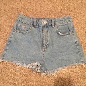 Top Shop Moto Short Jean Shorts